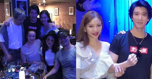 圖 翻攝自王力宏臉書 李靚蕾 黃曉明 章子怡