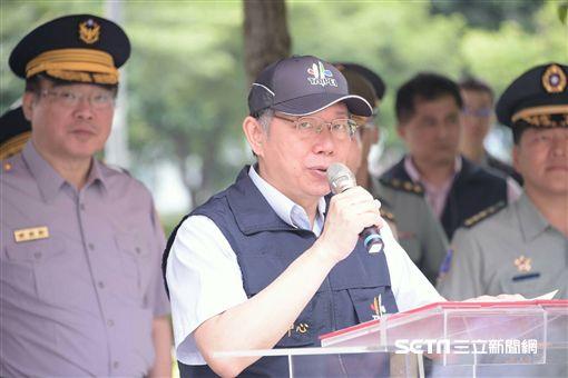 台北市長柯文哲視察萬安演習 北市府提供