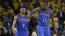 Kevin Durant與Russell Westbrook(ap)