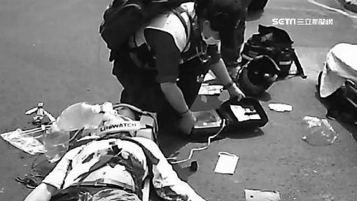 車禍一度喪命 2救護員賣力CPR救回記者