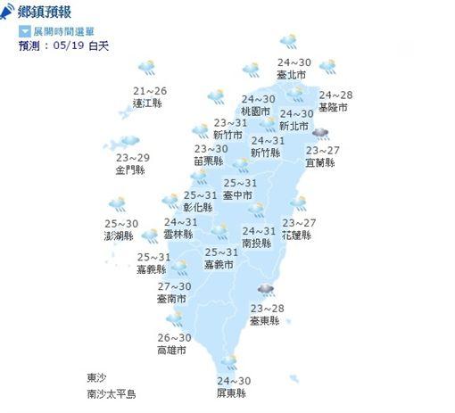 20170519氣象(圖/翻攝自中央氣象局)