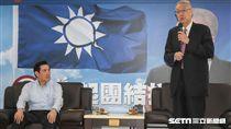 吳敦義與任內閣員有約。 圖/記者林敬旻攝