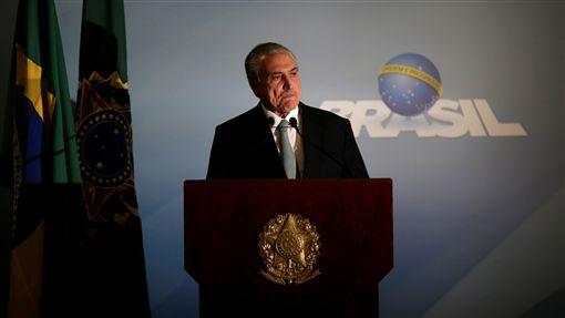 巴西總統泰梅爾(Michel Temer)貪瀆、貪汙(圖/路透社/達志影像)
