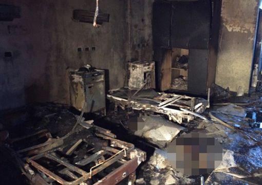 專家初判主要起火點在第6床床頭附近。(圖/翻攝畫面)