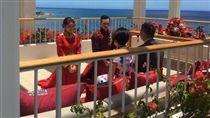 安以軒,陳榮煉,婚禮(圖/翻攝自向以丞微博)