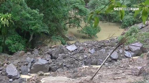 堰塞湖近萬噸蓄水量 崩塌恐危及下游百戶