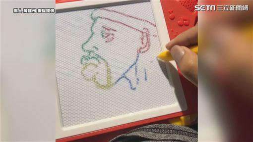 黑人大秀畫工 你猜得出是畫誰嗎?