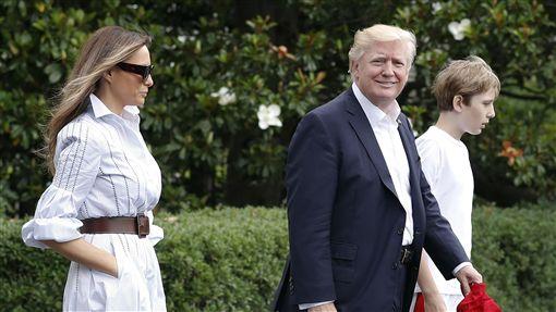 川普,Donald Trump,大衛營,Camp David,梅蘭妮亞,Melania,美國總統(圖/美聯社/達志影像)