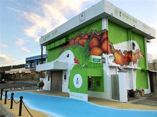 枋山,郵局,便利箱,伯勞鳥,中華郵政,造型,3D地景,屏東(圖/翻攝自臉書)