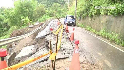 關山179線道大雨路坍 用路人提心吊膽