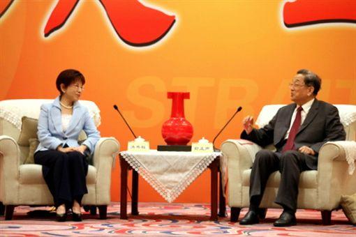 國民黨主席洪秀柱,俞正聲。(圖/國民黨提供)