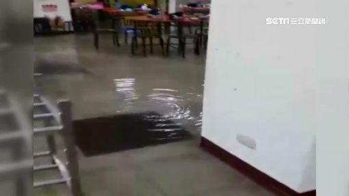 大雨來襲!校園內「泡湯」了 竟是里長惹的禍