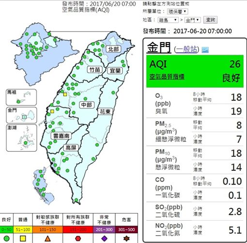 20170620氣象(圖/翻攝自環保署)