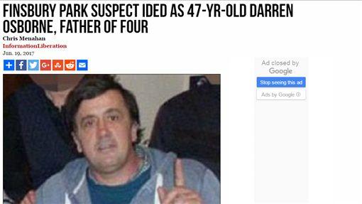 英國,倫敦,衝撞,穆斯林,清真寺,歐斯本,Darren Osborne(推特 https://twitter.com/search?q=Darren%20Osborne&src=typd)