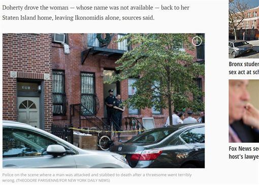 美國,3P,砍殺(圖/翻攝自《紐約每日新聞》)