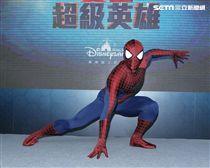 打擊罪犯正義使者「蜘蛛人」是大家心目中的超級英雄。(記者邱榮吉/攝影)