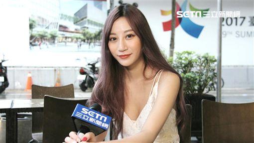 ▲梁思惠首度接受三立新聞網獨家專訪,面對鏡頭仍顯得怯生。(圖/龐文宏攝影)