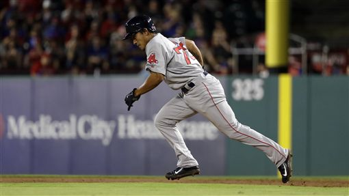 ▲波士頓紅襪內野手林子偉全力衝刺。(資料照/美聯社/達志影像)