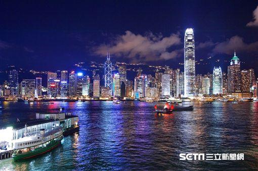 香港,夜景,。(圖/長榮提供) ID-967785