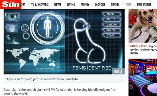 成人網站,陰莖辨識(圖/翻攝自《太陽報》)