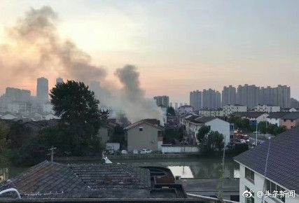 江蘇常熟市火災 圖/微博