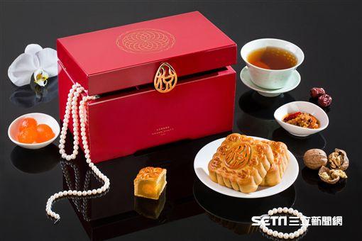 中秋節月餅。(圖/台北君悅酒店提供)