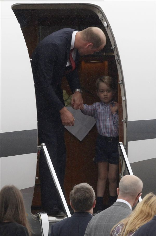 喬治王子、英國小王子、英國威廉王子、凱特王妃/(圖/美聯社/達志影像)