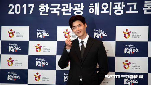 韓國觀光名譽宣傳大使李鍾碩就任儀式。(圖/記者簡佑庭攝)