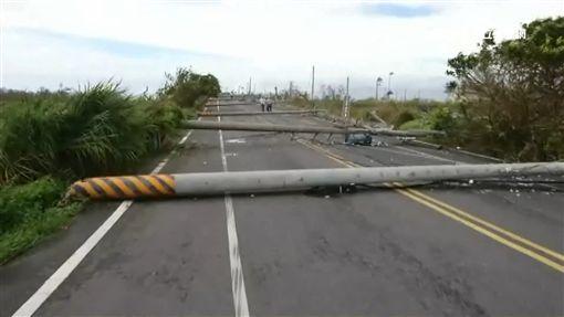 尼莎颱風,強陣風,電線桿,停電,香蕉,蕉農 ID-991035