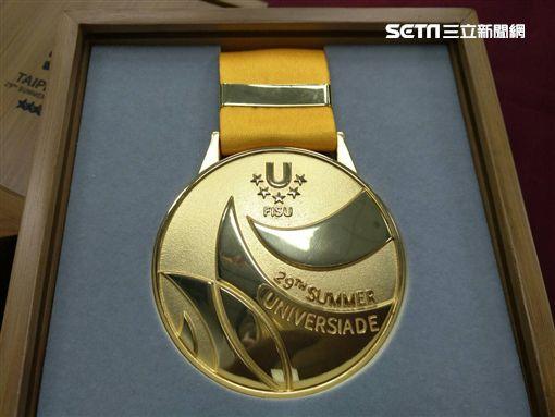 ▲台北世大運獎牌。(圖/記者林辰彥攝影)