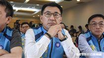 國民黨黨主席政見發表會,立委江啟臣 圖/記者林敬旻攝
