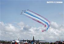 空軍慶祝八一四勝利八十周年岡山基地營區開放。(記者邱榮吉/攝影)