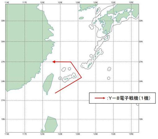 中共運8繞台又飛越宮古海峽_日本防衛省http://www.mod.go.jp/