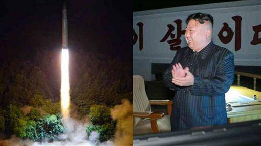 金正恩、北韓、金正恩指導火星17導彈火箭二次試射/北韓勞動新聞網