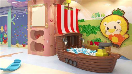 「波波夢幻島」海洋島嶼情境遊戲室