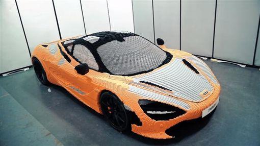 麥拉倫,McLaren,超跑,樂高,LEGO,縮時攝影(圖/翻攝自YouTube)