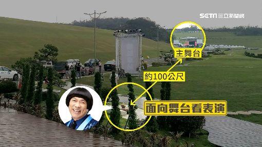 """豬哥亮舞台曝光 墓地旁藏""""明牌拱門"""""""