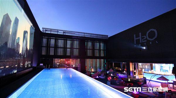 H2O水京棧國際酒店,頂樓酒吧,夜店酒吧。(圖/H2O水京棧國際酒店提供)