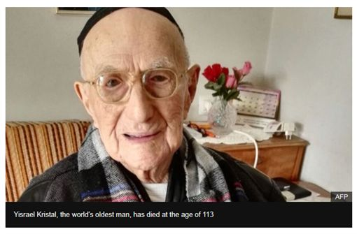 Yisrael Kristal,納粹,猶太,金氏世界紀錄,長壽圖/翻攝自BBC NEWS
