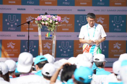 世大運選手村開村,台北市長柯文哲前往視導 圖/記者林敬旻攝