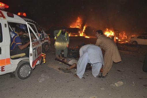 巴基斯坦西南部俾路支省(Balochistan)首府奎達市(Quetta)強烈爆炸 圖/美聯社/達志影像