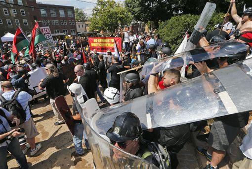 美國,維吉尼亞州,白人,黑人,遊行,衝突圖/美聯社/達志影像