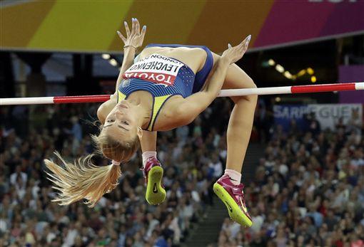 ▲烏克蘭的Yuliia Levchenko獲得跳高銀牌。(圖/美聯社/達志影像)