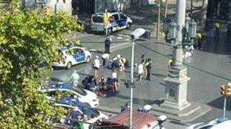 西班牙,巴塞隆納,汽車,衝撞,意外,恐攻,恐怖攻擊,封鎖