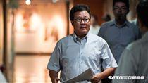 中油董事長陳金德針對15日全台大停電出面簡報說明 圖/記者林敬旻攝