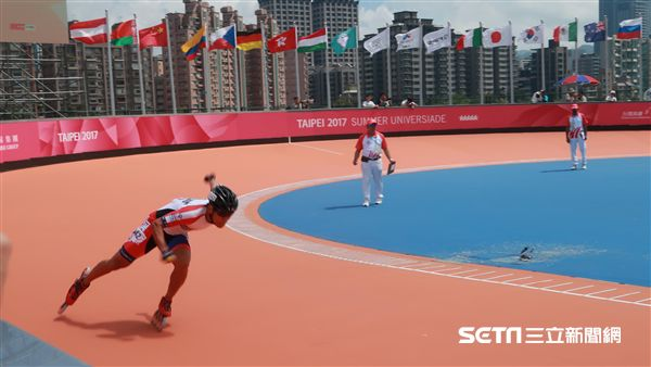 世大運滑輪溜冰選手高茂傑。(圖/記者王怡翔攝)