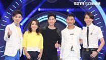 周興哲、任賢齊、辛曉琪、陶喆參加《K歌大明星》錄影