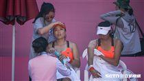 0828世大運網球女子團體中華隊詹詠然、詹皓晴 圖/記者林敬旻攝