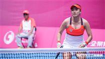 16:9 0827世大運網球女雙台灣選手詹詠然。 圖/記者林敬旻攝
