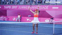 0828世大運網球女子團體中華隊詹詠然 圖/記者林敬旻攝